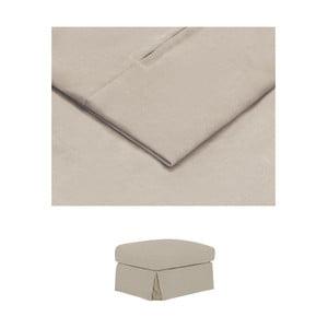 Béžový povlak na podnožku THE CLASSIC LIVING Jean