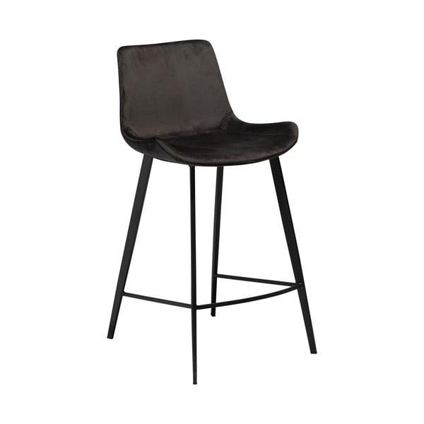 Scaun bar DAN–FORM Denmark Hype Velvet, negru