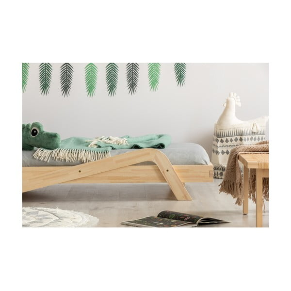 Pat din lemn de pin pentru copii Adeko Zig, 100 x 190 cm