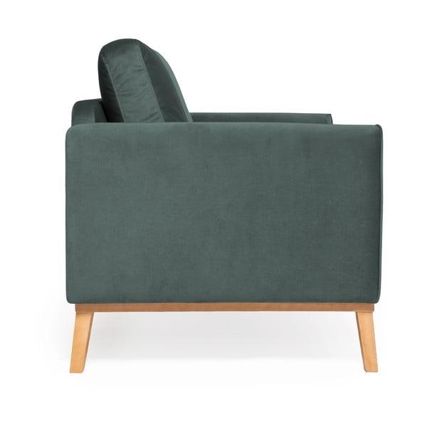 Ocelově modrá 3místná sedačka Vivonita Milton Trend