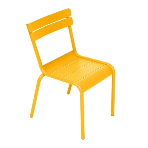 Žlutá dětská židle Fermob Luxembourg