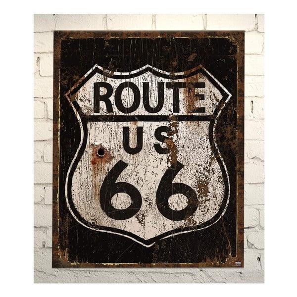 Cedule Route 66, 56x45 cm