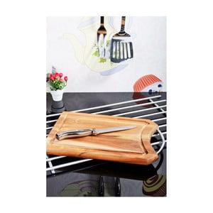 Krájecí prkénko s ocelovým uchem z akátového dřeva Kosova II, 31x20cm
