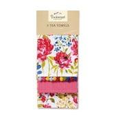 Sada 3 utěrek Cooksmart England Floral Romance