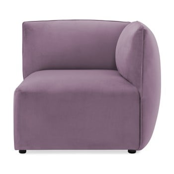Modul colț dreapta pentru canapea Vivonita Velvet Cube mov lila
