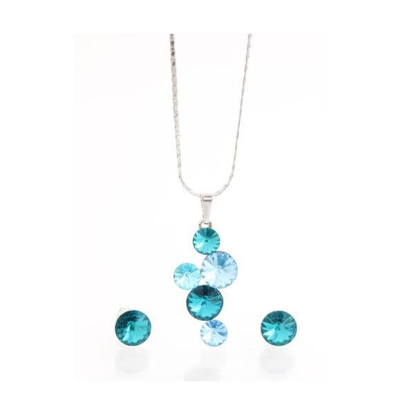 Set náhrdelníku a náušnic se Swarovski Elements Laura Bruni Jokulsa
