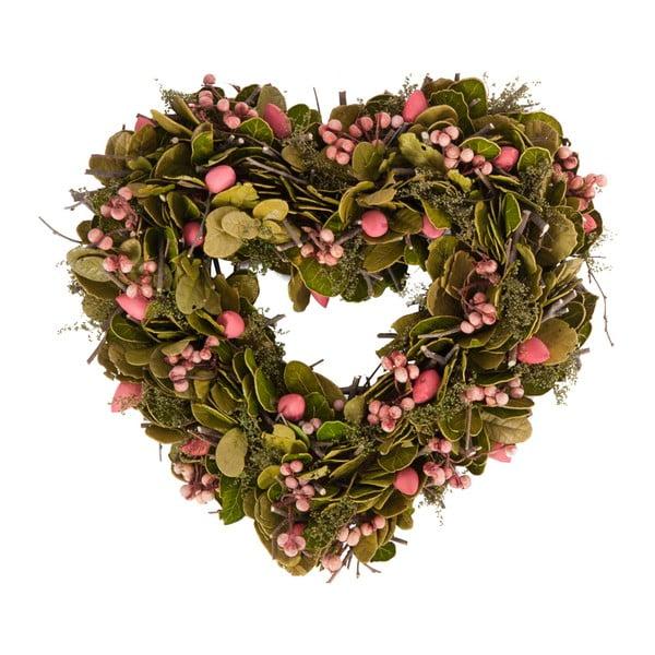Věnec ze sušených plodů Berry Heart, 30 cm