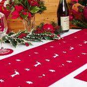 Față de masă îngustă Neviti Reindeer, roșu