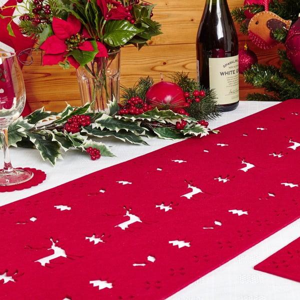 Reindeer piros asztali futó - Neviti