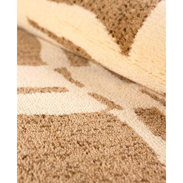 Vlněný koberec Tattoo no. 105, 120x160 cm, béžový