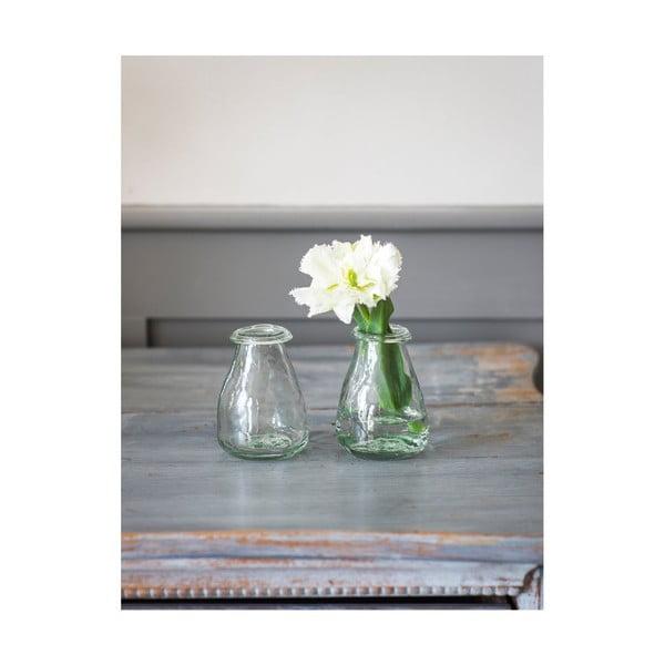 Sada 2 ks skleněných váziček Garden Trading Vases, ø 8 cm