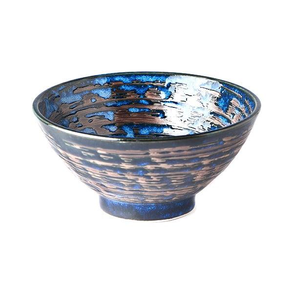 Modrá keramická miska MIJ Copper Swirl, ø16 cm