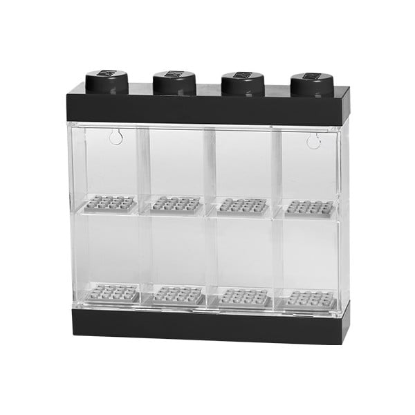 Čierno-biela zberateľská skrinka na 8 minifigúrok LEGO