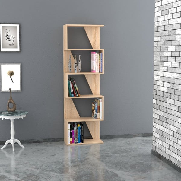 Knihovna Frame 168x54 cm, dekor dub