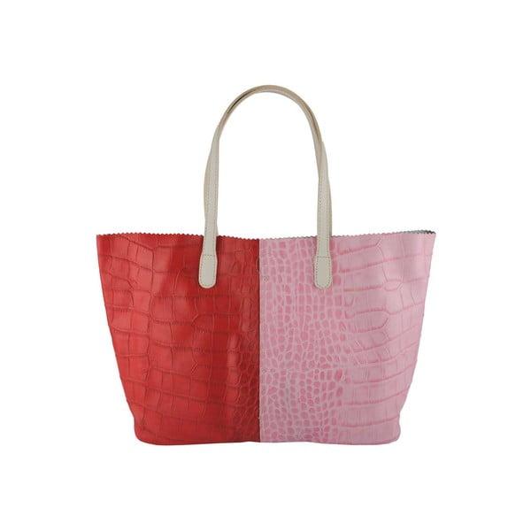 Kožená kabelka Gerardina Red & Pink
