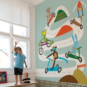 Obrazová tapeta LAVMI® Race Blue, 1,9x2,7 m
