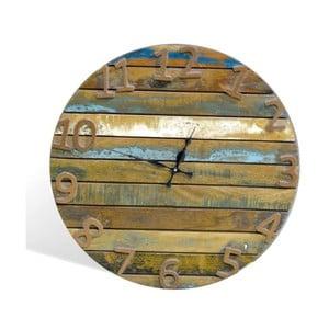 Hodiny z masivního dřeva SOB Colour