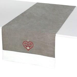 Běhoun na stůl Grey Heart
