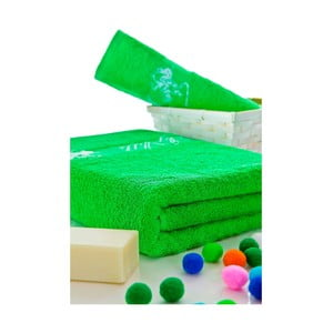Sada ručníků 50x100 a 150x80 cm, zelená