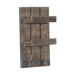 Dřevěná nástěnná police s 2 háčky Geese Sencil