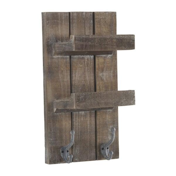 Raft din lemn pentru perete cu 2 cârlige Geese Sencil