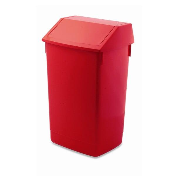 Coș de gunoi cu capac pe balamale Addis, 41 x 33,5 x 68 cm, roșu