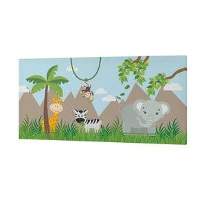 Obraz Little W Jungle, 27 x 54 cm