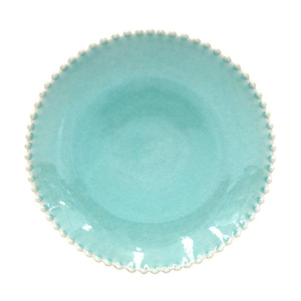 Turkusowy głęboki talerz kamionkowy Costa Nova Pearl, ⌀ 24 cm