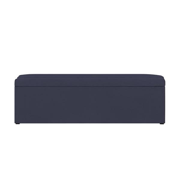 Tmavě modrý otoman s úložným prostorem Cosmopolitan Design LA, 200x47cm
