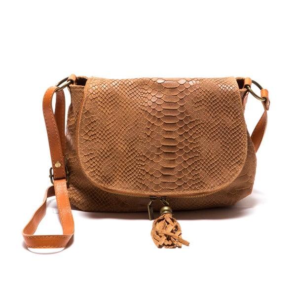 Hnědá kožená kabelka Sofia Cardoni Rosetta