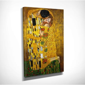 Reproducere tablou pe pânză Gustav Klimt The Kiss, 30 x 40 cm