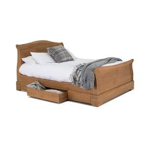 Dvojlůžková postel z dubového dřeva Vida Living Carmen
