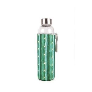 Sticlă cu husă din neopren Kikkerland Cactus, 600 ml, verde