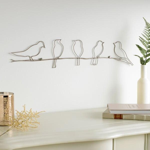 Kovová nástěnná dekorace Graham & Brown Bird On A Wire