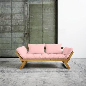 Canapea extensibilă  Karup Bebop Honey/Pink Peonie