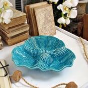 Modrý dekorativní talíř Orchidea Milano Venice