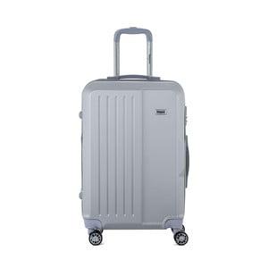 Světle šedý cestovní kufr na kolečkách s kódovým zámkem SINEQUANONE Chandler, 71 l