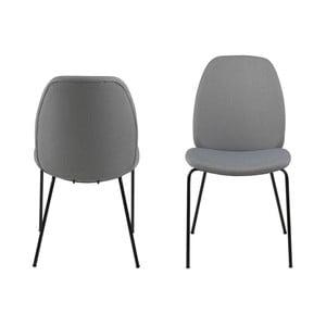 Sada 2 šedých jídelních židlí Actona Carmen Town