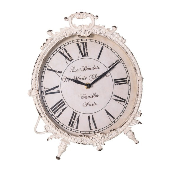 Biały zegar Antic Line Le Budoir