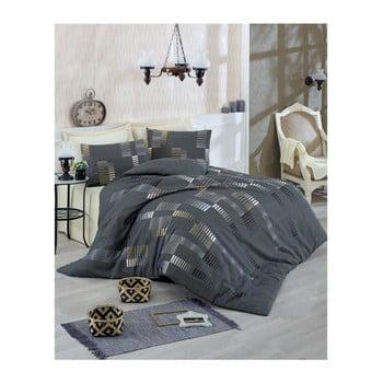 Lenjerie de pat cu cearșaf Trace, 200 x 220 cm de la Eponj Home