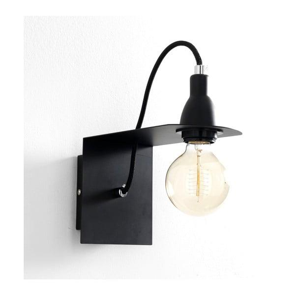 Genius fekete fali lámpa - Tomasucci