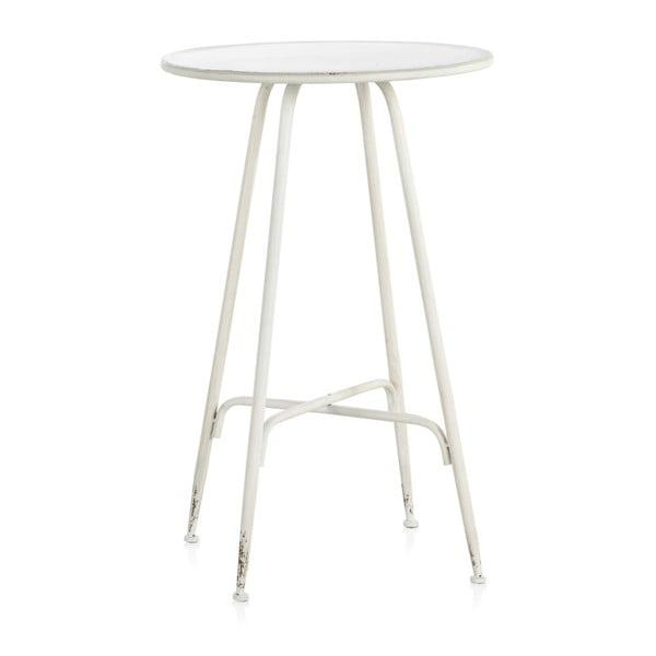 Biały metalowy hoker Geese Industrial Style, wys. 100 cm