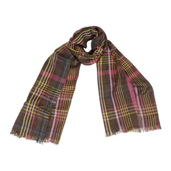 Šátek s příměsí hedvábí Shirin Sehan Jamie Choco