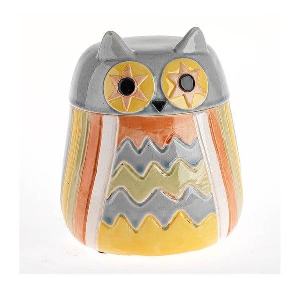 Keramická dóza Owl Blue