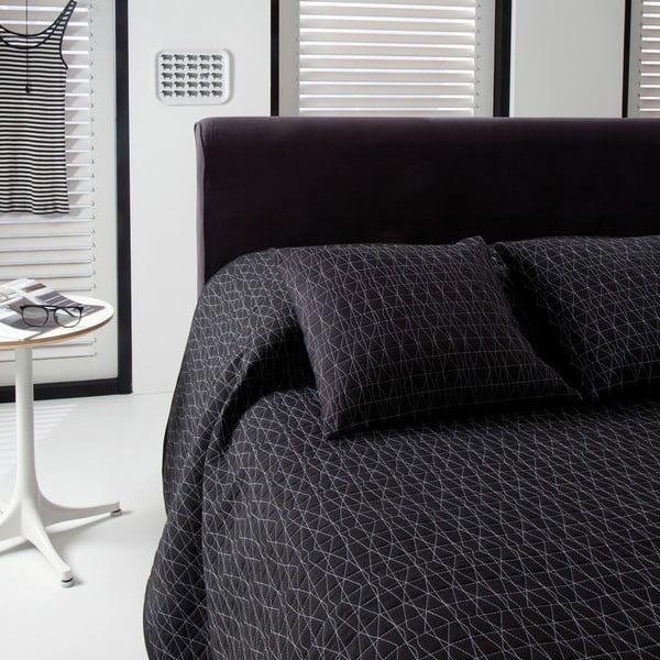 Přehoz přes postel Shape Black, 220x270 cm