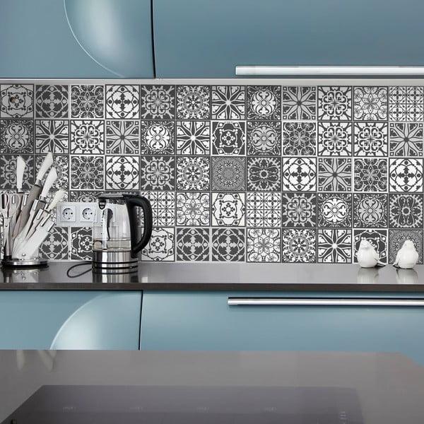 Nello 24 db-os dekoratív falimatrica szett, 10 x 10 cm - Ambiance