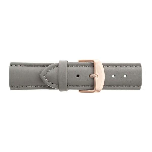 Dámské hodinky s šedým páskem z pravé kůže Emily Westwood Russo