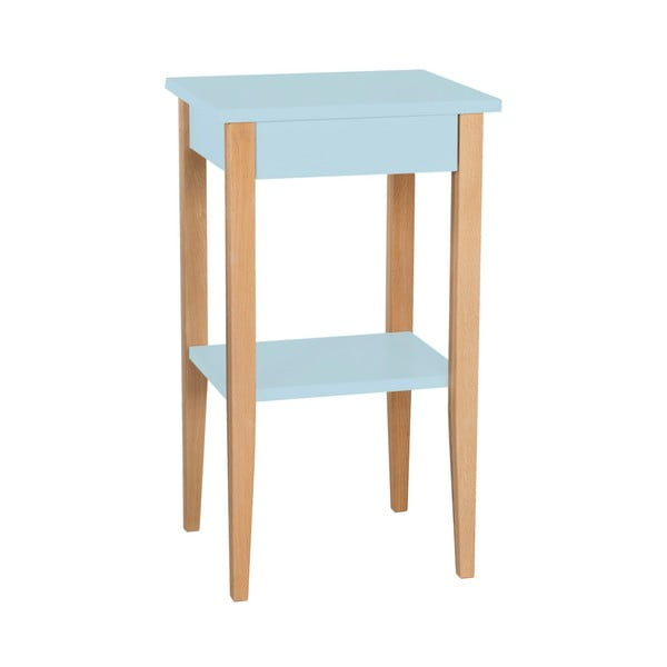 Světle modrý odkládací stolek Ragaba Entlik
