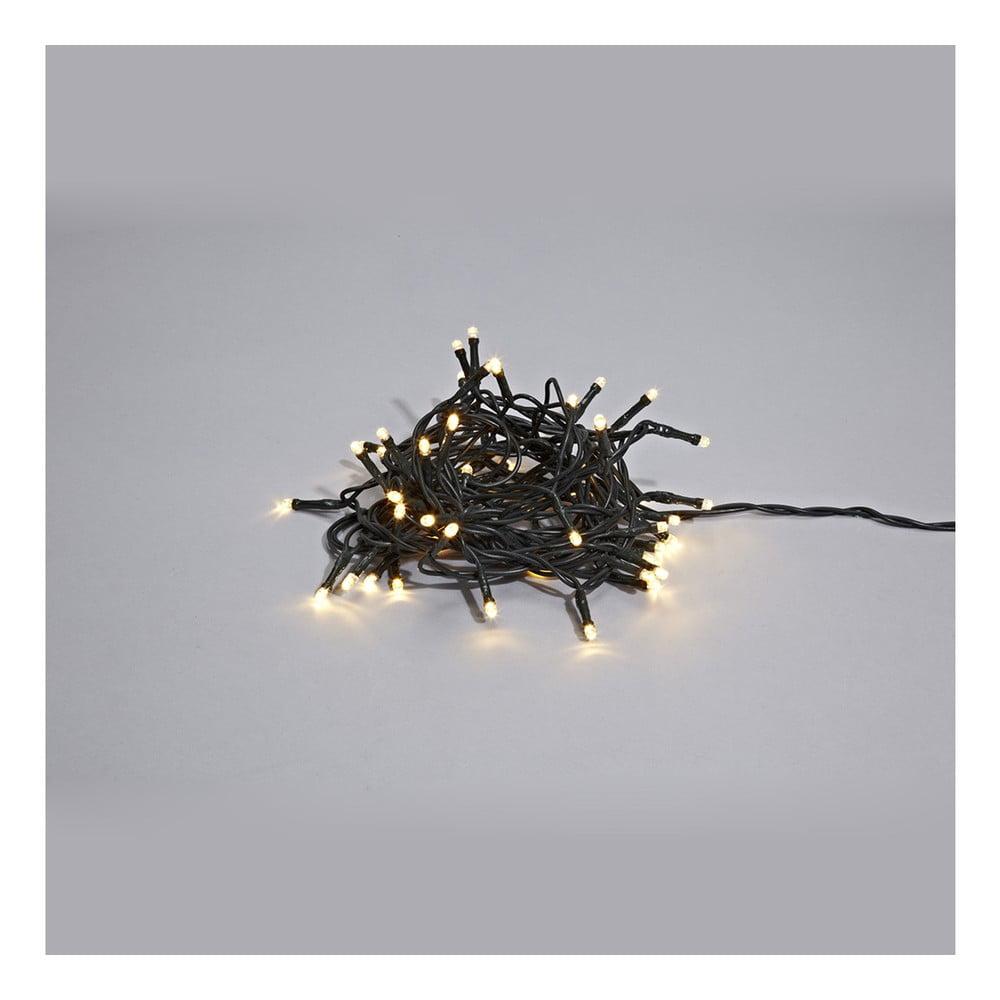 Černý svítící LED řetěz Markslöjd Sken Black, 80 světýlek