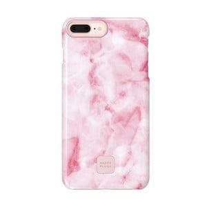 Růžovo-bílý ochranný kryt na telefon pro iPhone 7 a 8 Plus Happy Plugs Slim